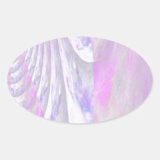 Arte caleidoscópico bonito del espacio - o - del pegatina ovalada