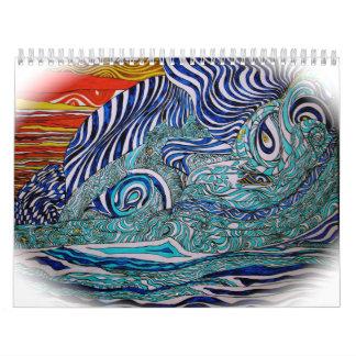 Arte Calenar de la onda del amor Calendario De Pared