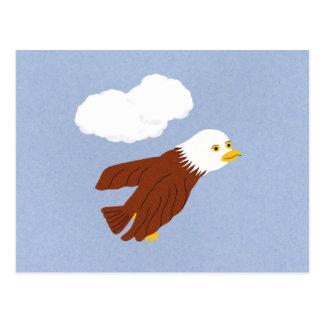 Arte caprichoso calvo del dibujo animado de Eagle Tarjeta Postal