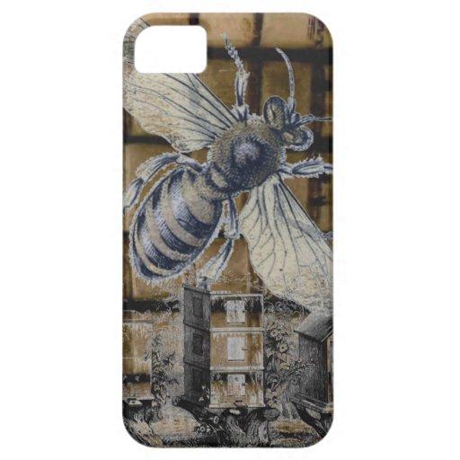 Arte caprichoso de la apicultura de la abeja de la iPhone 5 Case-Mate protector