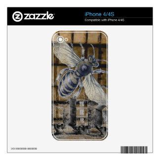 Arte caprichoso de la apicultura de la abeja de la skins para iPhone 4S