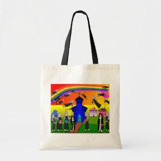 """Arte caprichoso de las """"monjas que vuelan"""" de las  bolsas"""
