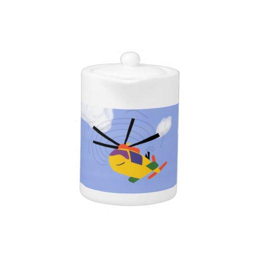 Arte caprichoso del dibujo animado del helicóptero