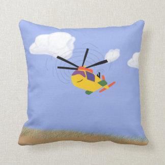 Arte caprichoso del dibujo animado del helicóptero almohadas