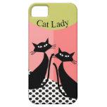 Arte caprichoso del gato negro iPhone 5 Case-Mate cárcasas