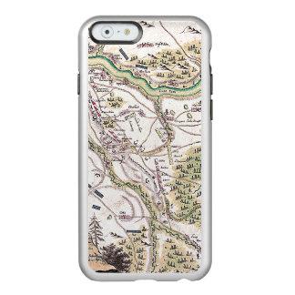 Arte Case3 del mapa Funda Para iPhone 6 Plus Incipio Feather Shine