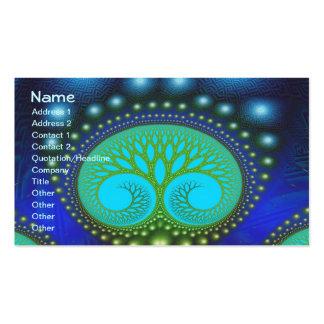 Arte celestial del fractal de la multa del bosque tarjetas de visita