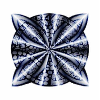 Arte céltico adaptable azul de la original del imán fotoescultura