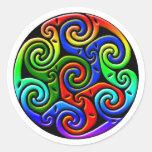 Arte céltico antiguo colorido - complejo, hermoso etiquetas