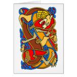 ¡Arte céltico del estilo antiguo colorido - gran r Felicitación