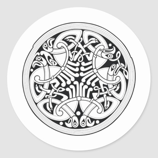 Arte céltico del nudo pegatina redonda