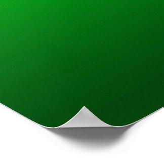 Arte céltico verde de la original del nudo póster