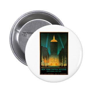 Arte central del viaje del edificio de Nueva York Pins