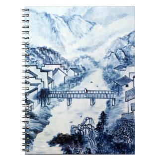 Arte chino #1 de la porcelana libros de apuntes con espiral