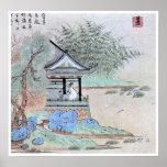 Arte chino antiguo del vintage poster