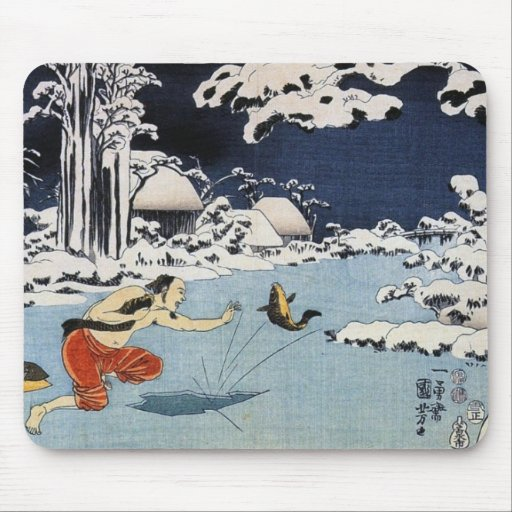 Arte chino antiguo del vintage tapete de raton