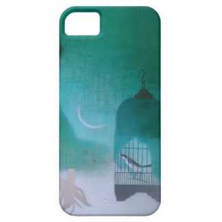 Arte chino del vintage pájaro en una jaula iPhone 5 Case-Mate coberturas