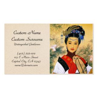 Arte chino hermoso joven fresco de princesa Guo Ji Tarjetas De Visita