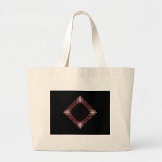 Arte chispeante rojo del fractal del diamante bolsas de mano