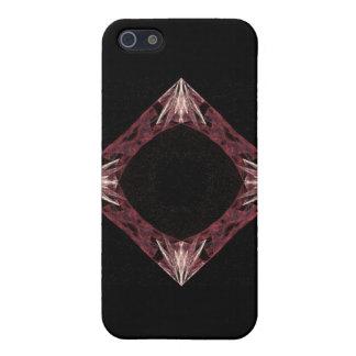 Arte chispeante rojo del fractal del diamante iPhone 5 coberturas