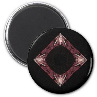 Arte chispeante rojo del fractal del diamante iman de nevera
