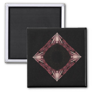 Arte chispeante rojo del fractal del diamante iman de frigorífico