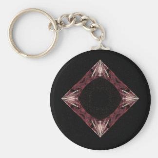 Arte chispeante rojo del fractal del diamante llaveros