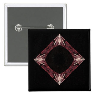 Arte chispeante rojo del fractal del diamante pin