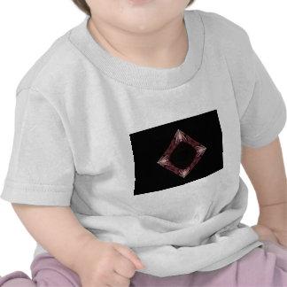 Arte chispeante rojo del fractal del diamante camisetas