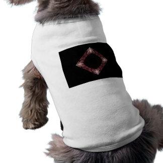 Arte chispeante rojo del fractal del diamante camisetas mascota