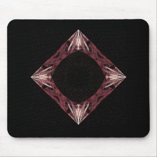 Arte chispeante rojo del fractal del diamante alfombrilla de ratón