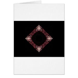 Arte chispeante rojo del fractal del diamante tarjetas