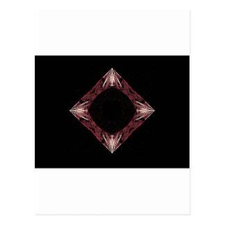 Arte chispeante rojo del fractal del diamante tarjeta postal