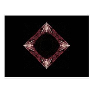 Arte chispeante rojo del fractal del diamante postales