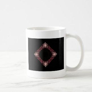 Arte chispeante rojo del fractal del diamante taza de café