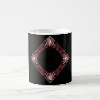 Arte chispeante rojo del fractal del diamante tazas de café