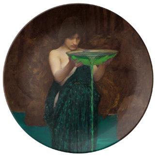 Arte Circe Invidiosa del Waterhouse del Plato De Cerámica