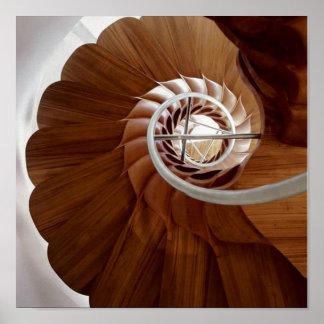 Arte circular interior de la ESCALERA: Gráficos Póster