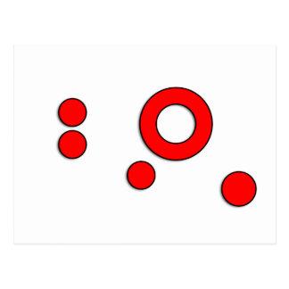 """Arte """"círculos"""" del vector (rojo) postal"""