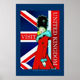 Arte clásico BRITÁNICO del poster de la visita