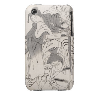 Arte clásico de Hokusai del samurai de los Case-Mate iPhone 3 Funda