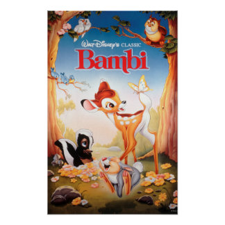 Arte clásico de la cubierta de Bambi Póster