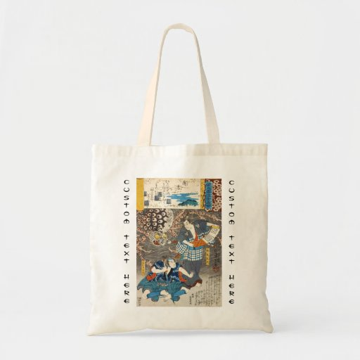 Arte clásico de los samurais de Utagawa del ukiyo- Bolsas