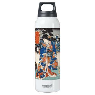 Arte clásico de señora Utagawa del geisha del