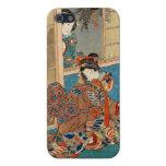 Arte clásico de Utagawa de los geishas del ukiyo-e iPhone 5 Cárcasas