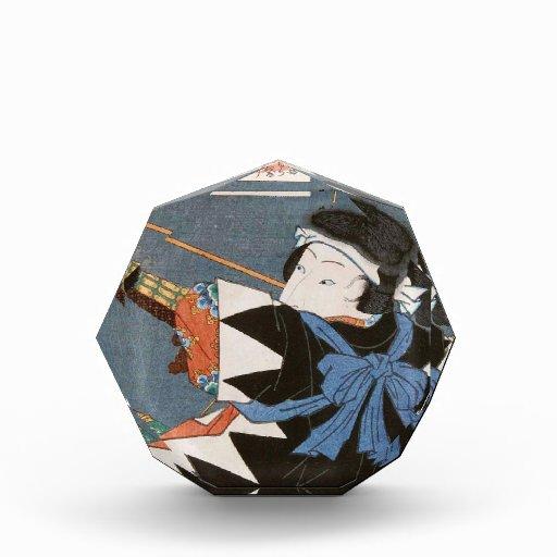 Arte clásico de Utagawa del archer del kyudo del u