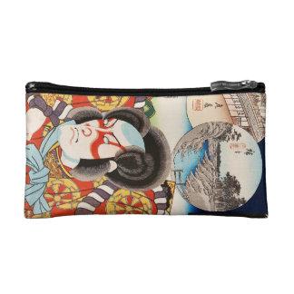 Arte clásico de Utagawa del samurai del kabuki del