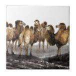 Arte clásico del estilo chino, manada de camellos azulejo