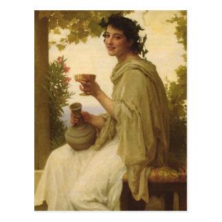 Arte clásico del vino tarjetas postales