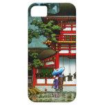 Arte clásico japonés oriental fresco de la lluvia  iPhone 5 cárcasa